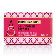 Argan+ Moroccan Rose 5-Oil Soothing Body Bar 125g
