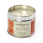 Melitarose Sweet Orange & Chilli Pepper Soy Candle Tin 160g