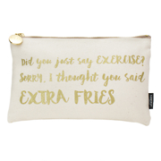 nails inc Cosmetic Bag - 'Did You Say Exercise? Sorry, I Though You Said Extra Fries'