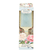 The Vintage Cosmetic Company Rectangular Paddle Hair Brush - Soft Touch Cream