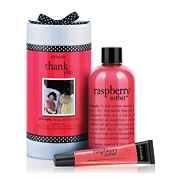 philosophy thank you raspberry sorbet gift set 2 piece