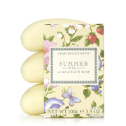 Crabtree & Evelyn Summer Hill Triple Milled soap 3 x 100g