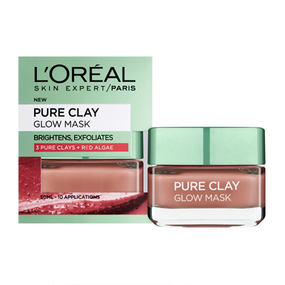 Loreal pure clay glow mask