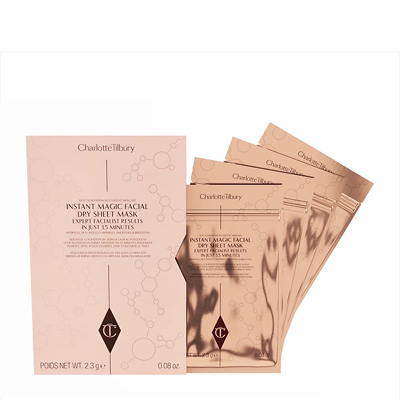 Charlotte Tilbury Instant Magic Facial Dry Sheet Mask - Pack Of 4