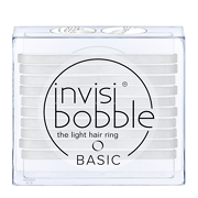 invisibobble BASIC Crystal Clear Lot de 10 Élastiques