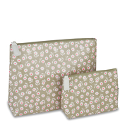 Victoria Green 'Daisy' Set Of 2 Make-Up Bags - Sage