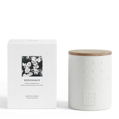 Skandinavisk ROSENHAVE Ceramic Scented Candle With Lid 300g