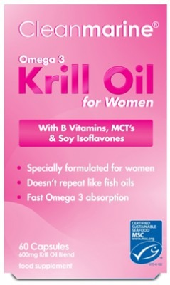 Cleanmarine Krill Oil for Women 600mg Capsules x60