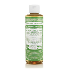 Dr Bronner's 18 in 1 Hemp Green Tea Pure Castile Liquid Soap 237ml