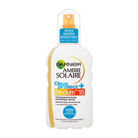 Garnier Ambre Solaire Clear Protect Spray - Medium SPF 15 200ml