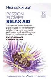 Higher Nature Passionflower Relax Aid 30 Tablets