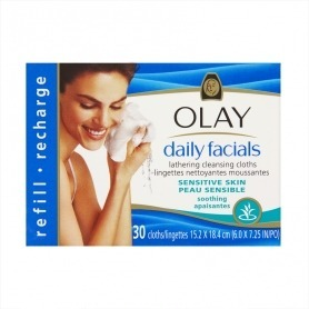 Olay Daily Facials Lathering Soothing Cleansing Cloths Refill - Sensitive x30 - Cloths Gifts